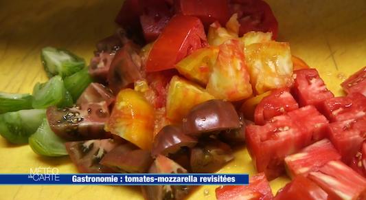 Tomates-mozzarella revisitées par Félix Clerc